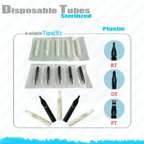 Disposable Tattoo Tips 100 Suited Tube Grips and 100 Disposable Tattoo