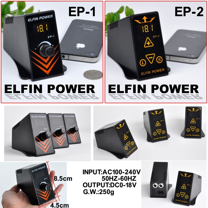 Elfin New Design Tattoo Power Supply